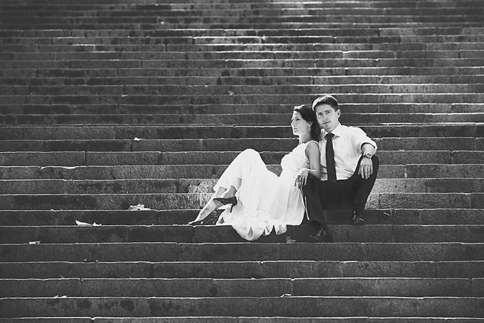 sesja ślubna w Barcelonie jesienią