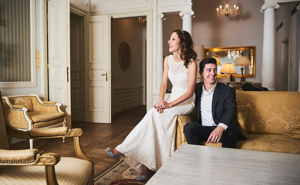 sesja ślubna w hotelu w warszawie