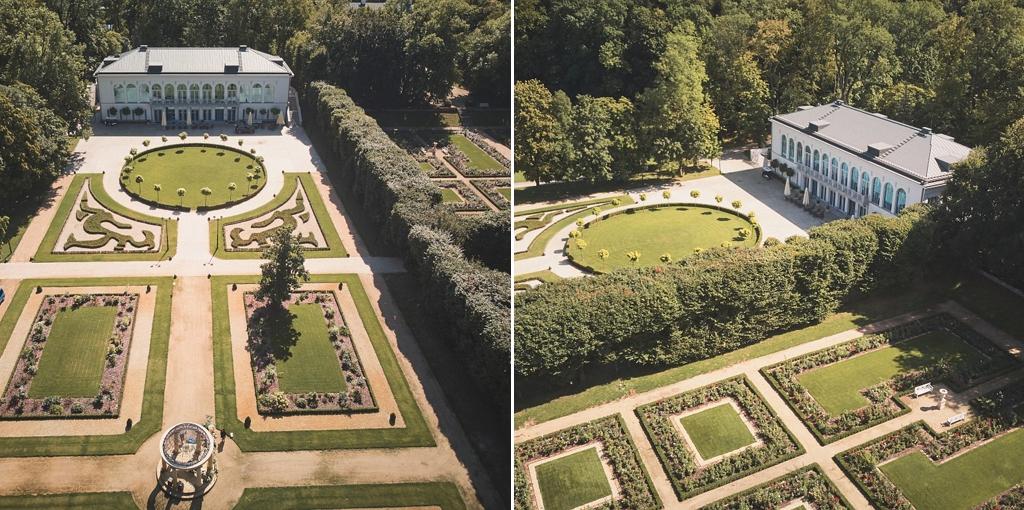 pałac mała wieś ślub plenerowy