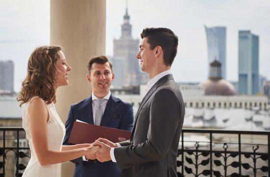 ślub humanistyczny na dachu hotelu bristol w warszawie